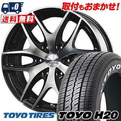 225/50R18 TOYO TIRES トーヨー タイヤ H20 H20 TWS Black Racing VS1 TWS ブラックレーシング・VS1 サマータイヤホイール4本セット for 200系ハイエース