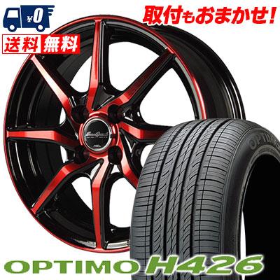 185/60R15 84H HANKOOK ハンコック OPTIMO H426 オプティモ H426 EuroSpeed S810 ユーロスピード S810 サマータイヤホイール4本セット