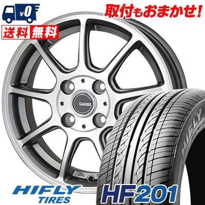 185/70R14 88H HIFLY ハイフライ HF201 HF201 G.Speed P-01 Gスピード P-01 サマータイヤホイール4本セット
