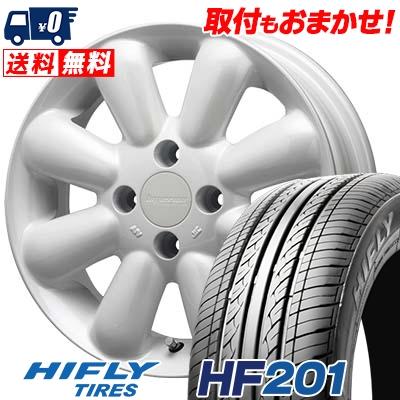 155/65R14 75T HIFLY ハイフライ HF201 エイチエフ ニイマルイチ HYPERION PINO+(PLUS) ハイペリオン ピノ+(プラス) サマータイヤホイール4本セット