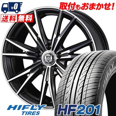 HF201 WEDS ハイフライ ウェッズ サマータイヤホイール4本セット【取付対象】 DK RIZLEY 92V ライツレーDK ニイマルイチ エイチエフ HIFLY 205/60R16