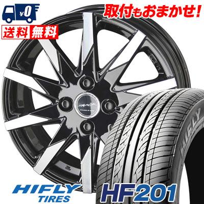 175/55R15 77T HIFLY ハイフライ HF201 HF201 SMACK SFIDA スマック スフィーダ サマータイヤホイール4本セット