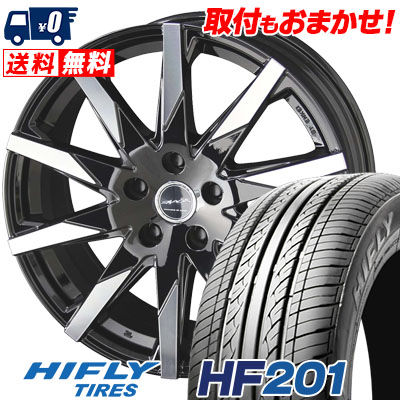 205/55R16 91V HIFLY ハイフライ HF201 HF201 SMACK SFIDA スマック スフィーダ サマータイヤホイール4本セット