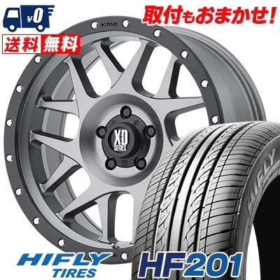 205/55R16 91V HIFLY ハイフライ HF201 エイチエフ ニイマルイチ KMC XD127 BULLY KMC XD127 ブリー サマータイヤホイール4本セット