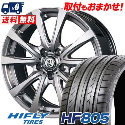 225/35R18 87W XL HIFLY ハイフライ HF805 HF805 TRG-BAHN TRG バーン サマータイヤホイール4本セット