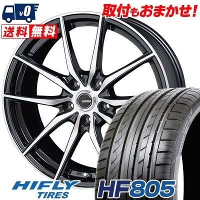 225/35R18 87W XL HIFLY ハイフライ HF805 HF805 G.Speed P-02 Gスピード P-02 サマータイヤホイール4本セット