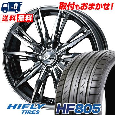 215/40R17 87W XL HIFLY ハイフライ HF805 エイチエフ ハチマルゴ WEDS LEONIS GX ウェッズ レオニス GX サマータイヤホイール4本セット