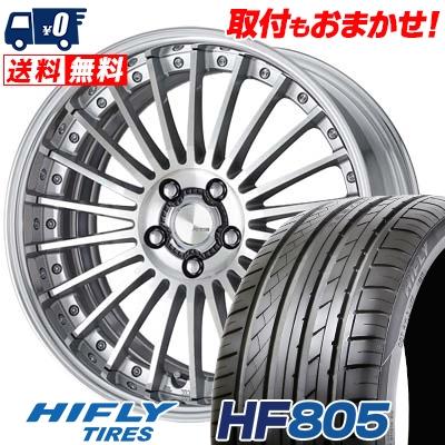 245/45R19 102W XL HIFLY ハイフライ HF805 HF805 WORK LANVEC LF1 ワーク ランベック エルエフワン サマータイヤホイール4本セット