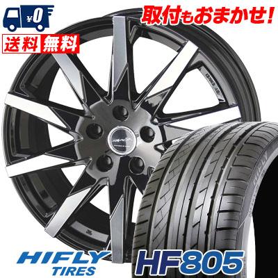 95W サマータイヤホイール4本セット【取付対象】 SMACK 225/45R18 SFIDA ハイフライ HIFLY HF805 スフィーダ HF805 スマック