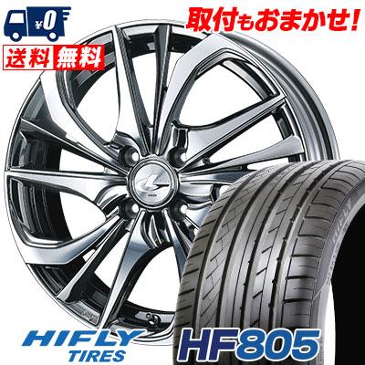 215/40R17 87W XL HIFLY ハイフライ HF805 エイチエフ ハチマルゴ weds LEONIS TE ウェッズ レオニス TE サマータイヤホイール4本セット