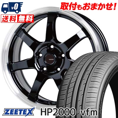 215/60R17 96H ZEETEX ジーテックス HP2000vfm HP2000vfm G.speed P-03 ジースピード P-03 サマータイヤホイール4本セット