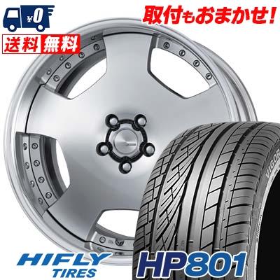 235/55R19 105V XL HIFLY ハイフライ HP801 HP801 WORK LANVEC LD1 ワーク ランベック エルディーワン サマータイヤホイール4本セット