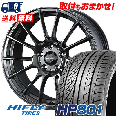 235/55R18 100V HIFLY ハイフライ HP801 エイチピー ハチマルイチ WedsSport SA-72R ウェッズスポーツ SA-72R サマータイヤホイール4本セット