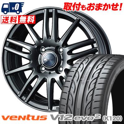 195/50R15 82V HANKOOK ハンコック VENTUS V12 evo2 K120 ベンタス V12 エボ2 K120 Zamik Tito ザミック ティート サマータイヤホイール4本セット