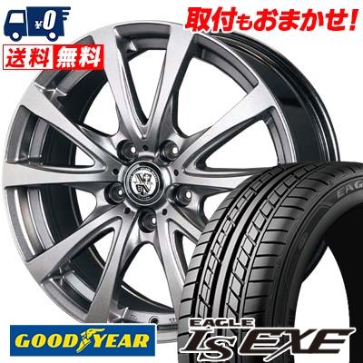 245/45R17 95W Goodyear グッドイヤー LS EXE LS エグゼ TRG-BAHN TRG バーン サマータイヤホイール4本セット