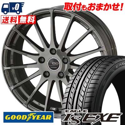 195/60R15 88H Goodyear グッドイヤー LS EXE LS エグゼ ENKEI CREATIVE DIRECTION CDF1 エンケイ クリエイティブ ディレクション CD-F1 サマータイヤホイール4本セット