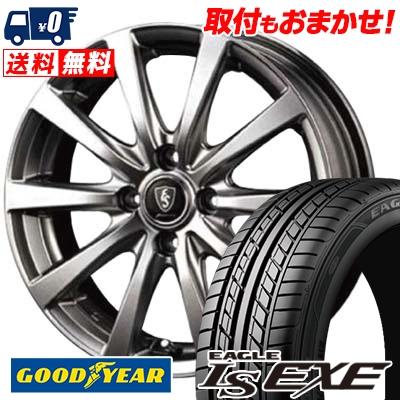 【エントリーでポイント5倍】 195/55R16 87V Goodyear グッドイヤー LS EXE LS エグゼ Euro Speed G10 ユーロスピード G10 サマータイヤホイール4本セット