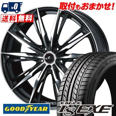 195/60R15 88H Goodyear グッドイヤー LS EXE LS エグゼ WEDS LEONIS GX ウェッズ レオニス GX サマータイヤホイール4本セット
