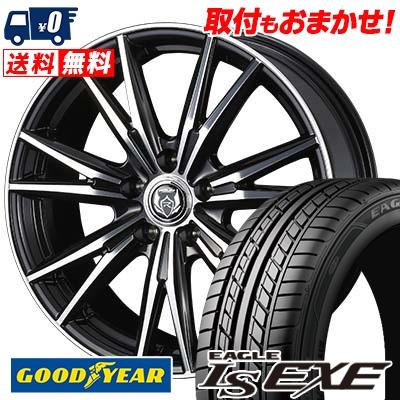 235/45R17 94W Goodyear グッドイヤー LS EXE LS エグゼ WEDS RIZLEY DK ウェッズ ライツレーDK サマータイヤホイール4本セット