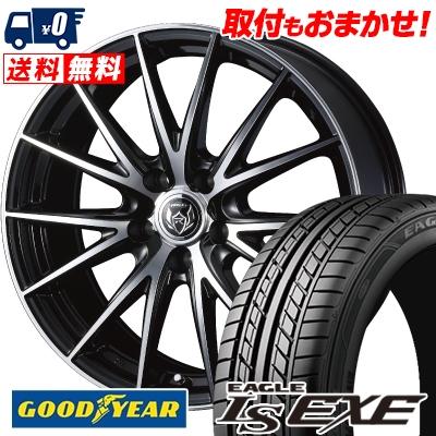 195/60R15 88H Goodyear グッドイヤー LS EXE LS エグゼ WEDS RIZLEY VS ウェッズ ライツレー VS サマータイヤホイール4本セット
