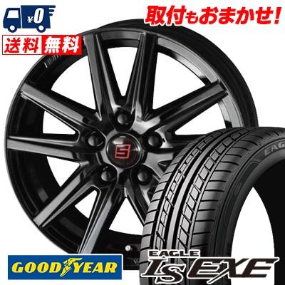 225/55R16 95V Goodyear グッドイヤー LS EXE LS エグゼ SEIN SS BLACK EDITION ザイン エスエス ブラックエディション サマータイヤホイール4本セット
