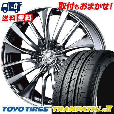 235/50R18 101W TOYO TIRES トーヨー タイヤ TRANPATH Lu2 トランパス Lu2 weds LEONIS VT ウエッズ レオニス VT サマータイヤホイール4本セット
