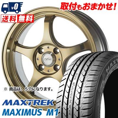 225/60R17 99V MAXTREK マックストレック MAXIMUS M1 マキシマス エムワン 5ZIGEN PRORACER FN01R-Cα 5ジゲン プロレーサー FN01R-Cアルファ サマータイヤホイール4本セット