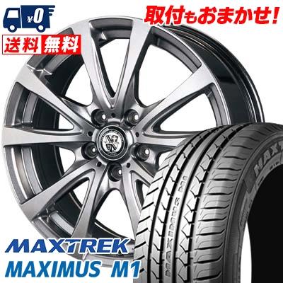 195/60R16 89H MAXTREK マックストレック MAXIMUS M1 マキシマス エムワン TRG-BAHN TRG バーン サマータイヤホイール4本セット