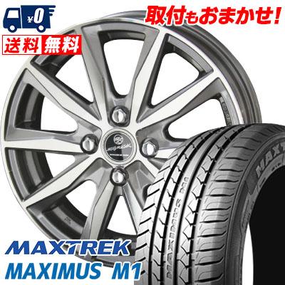 155/65R14 75T MAXTREK マックストレック MAXIMUS M1 マキシマス エムワン SMACK BASALT スマック バサルト サマータイヤホイール4本セット