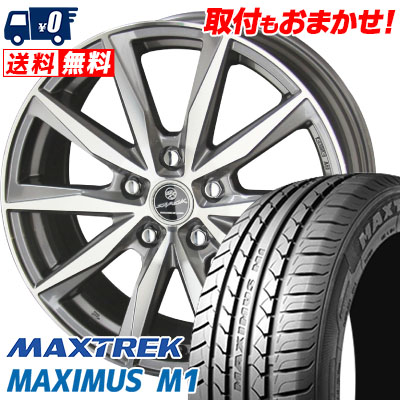 195/60R16 89H MAXTREK マックストレック MAXIMUS M1 マキシマス エムワン SMACK BASALT スマック バサルト サマータイヤホイール4本セット