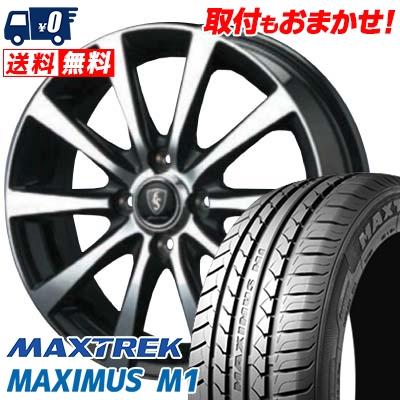 155/65R14 75T MAXTREK マックストレック MAXIMUS M1 マキシマス エムワン EuroSpeed BL10 ユーロスピード BL10 サマータイヤホイール4本セット