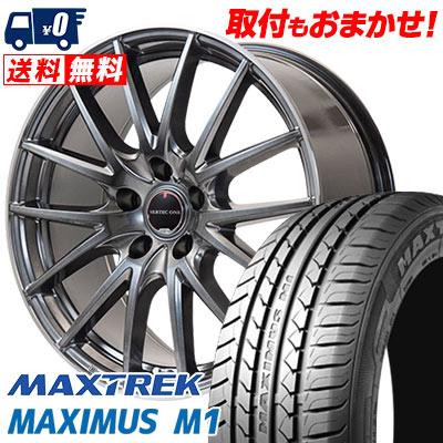 205/55R16 94V XL MAXTREK マックストレック MAXIMUS M1 マキシマス エムワン VERTEC ONE Eins.1 ヴァーテック ワン アインス ワン サマータイヤホイール4本セット