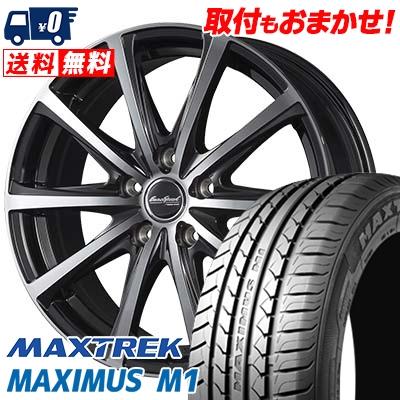 195/60R16 89H MAXTREK マックストレック MAXIMUS M1 マキシマス エムワン EuroSpeed V25 ユーロスピード V25 サマータイヤホイール4本セット