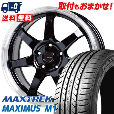 205/60R16 92H MAXTREK マックストレック MAXIMUS M1 マキシマス エムワン G.speed P-03 ジースピード P-03 サマータイヤホイール4本セット【取付対象】