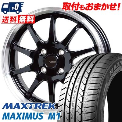195/55R16 87V MAXTREK マックストレック MAXIMUS M1 マキシマス エムワン G.speed P-04 ジースピード P-04 サマータイヤホイール4本セット【取付対象】