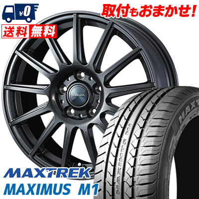 195/60R16 89H MAXTREK マックストレック MAXIMUS M1 マキシマス エムワン VELVA IGOR ヴェルヴァ イゴール サマータイヤホイール4本セット