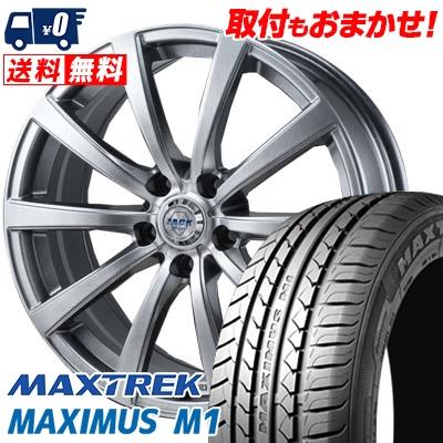 225/55R17 101V XL MAXTREK マックストレック MAXIMUS M1 マキシマス エムワン ZACK JP-110 ザック JP110 サマータイヤホイール4本セット