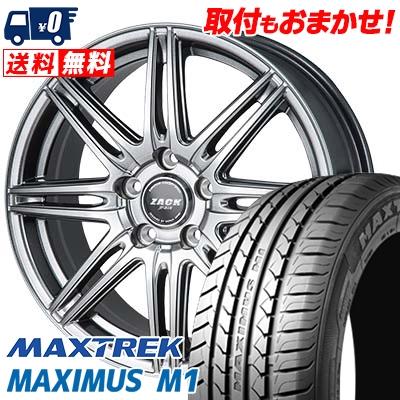 195/60R16 89H MAXTREK マックストレック MAXIMUS M1 マキシマス エムワン ZACK JP-818 ザック ジェイピー818 サマータイヤホイール4本セット