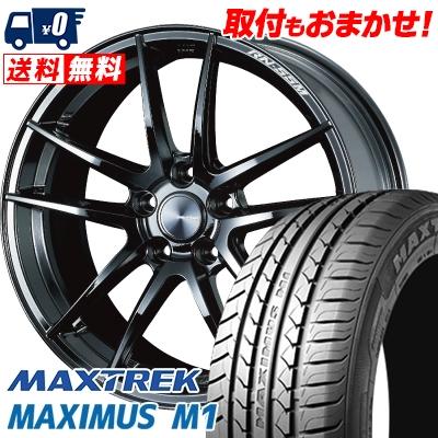 235/40R18 95W XL MAXTREK マックストレック MAXIMUS M1 マキシマス エムワン WedsSport RN-55M ウェッズスポーツ RN-55M サマータイヤホイール4本セット【取付対象】