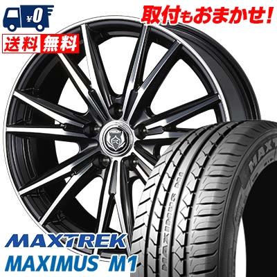 205/60R16 92H MAXTREK マックストレック MAXIMUS M1 マキシマス エムワン WEDS RIZLEY DK ウェッズ ライツレーDK サマータイヤホイール4本セット