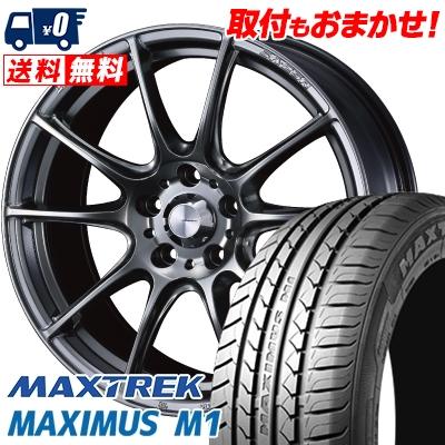 205/60R16 92H MAXTREK マックストレック MAXIMUS M1 マキシマス エムワン WedsSport SA-25R ウェッズスポーツ SA-25R サマータイヤホイール4本セット