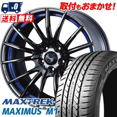 225/60R17 99V MAXTREK マックストレック MAXIMUS M1 マキシマス エムワン WedsSport SA-35R ウェッズスポーツ SA-35R サマータイヤホイール4本セット【取付対象】