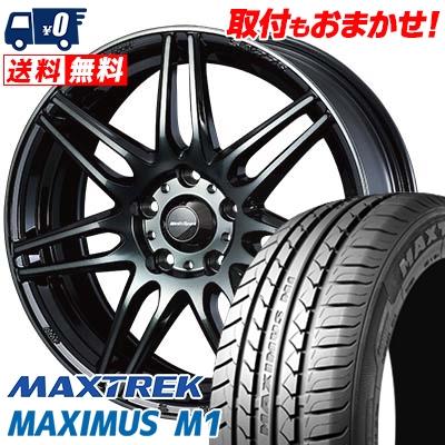 205/55R16 94V XL MAXTREK マックストレック MAXIMUS M1 マキシマス エムワン wedsSport SA-77R ウェッズスポーツ SA-77R サマータイヤホイール4本セット