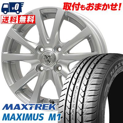 155/55R14 69V MAXTREK マックストレック MAXIMUS M1 マキシマス エムワン TRG-SILBAHN TRG シルバーン サマータイヤホイール4本セット