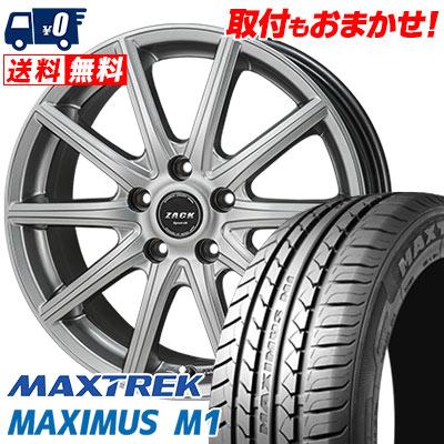 215/50R17 95V XL MAXTREK マックストレック MAXIMUS M1 マキシマス エムワン ZACK SPORT-01 ザック シュポルト01 サマータイヤホイール4本セット