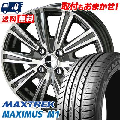 155/65R14 75T MAXTREK マックストレック MAXIMUS M1 マキシマス エムワン SMACK SPARROW スマック スパロー サマータイヤホイール4本セット