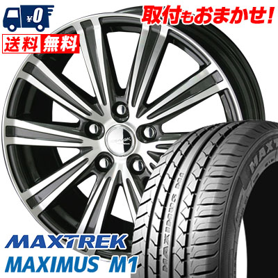 195/60R16 89H MAXTREK マックストレック MAXIMUS M1 マキシマス エムワン SMACK SPARROW スマック スパロー サマータイヤホイール4本セット