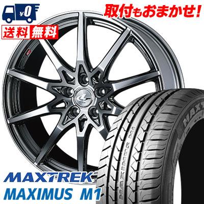 245/35R19 93W XL MAXTREK マックストレック MAXIMUS M1 マキシマス エムワン weds LEONIS SV ウェッズ レオニス SV サマータイヤホイール4本セット