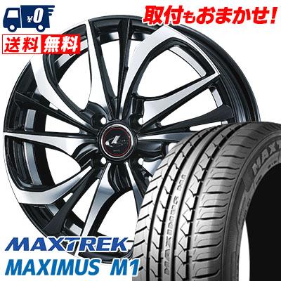 195/55R16 87V MAXTREK マックストレック MAXIMUS M1 マキシマス エムワン weds LEONIS TE ウェッズ レオニス TE サマータイヤホイール4本セット