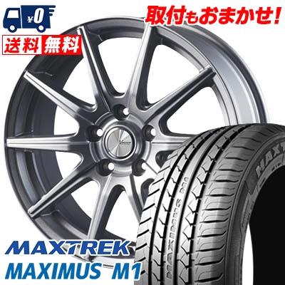 195/60R16 89H MAXTREK マックストレック MAXIMUS M1 マキシマス エムワン V-EMOTION SR10 Vエモーション SR10 サマータイヤホイール4本セット